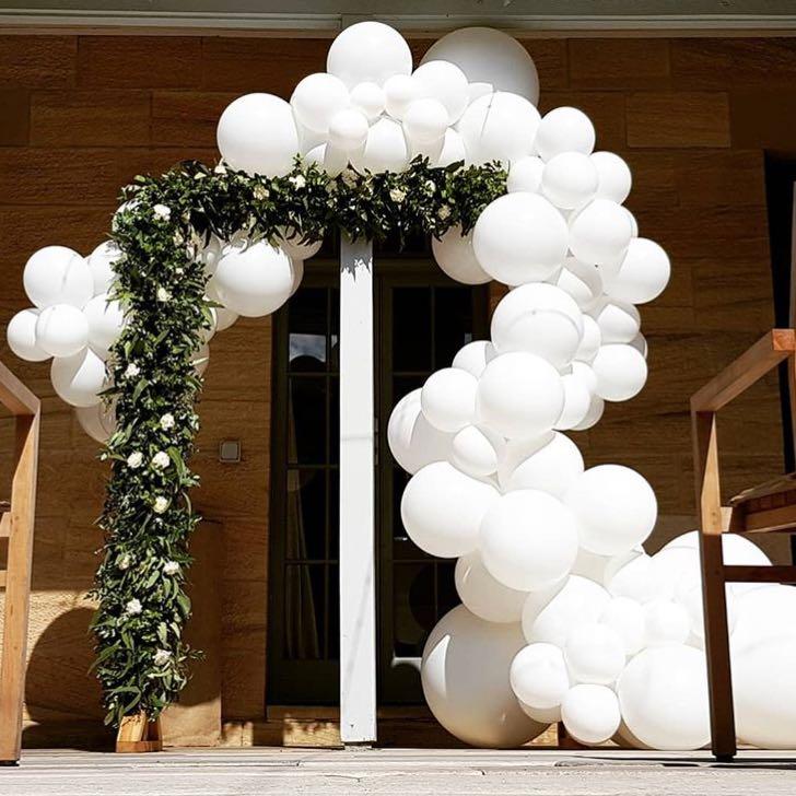 каждом фотозона на свадьбу из шаров оставила