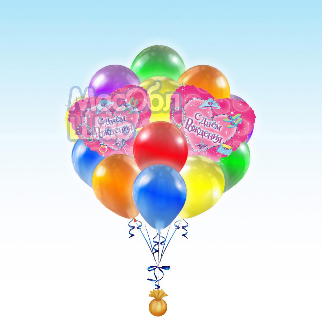 Букет из шаров поздравление